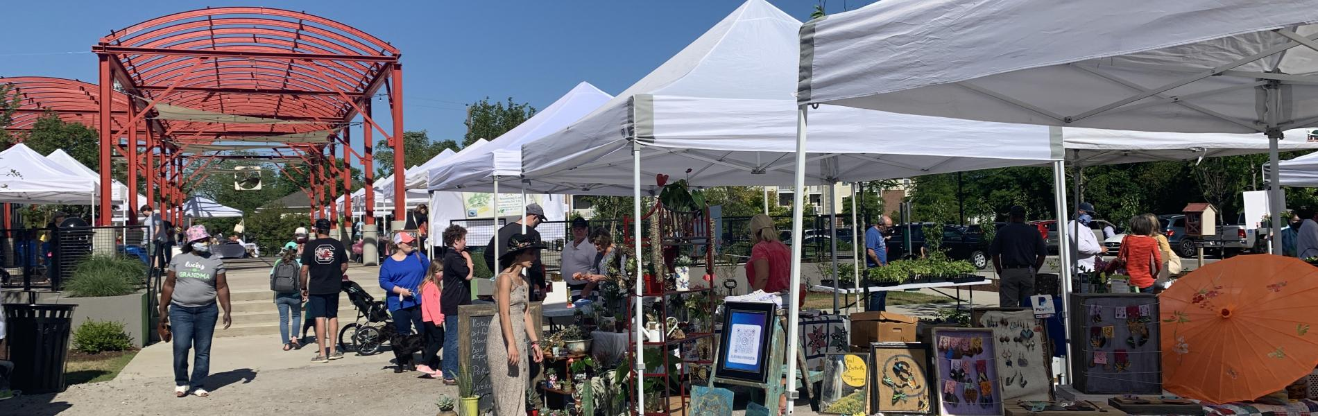 The Saturday market at the City Center Market