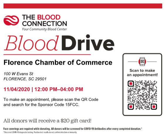 Blood Connection Flyer with QR Code